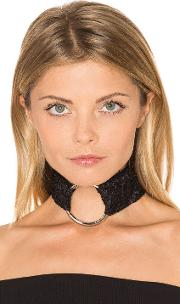 Breelayne , X Revolve Lace Ivy With Silver Ring Choker