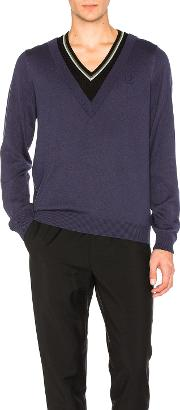 Fred Perry X Raf Simons , Double Layer V Neck Sweater