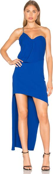 Halston Heritage , One Shoulder Drape Dress