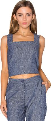 Lucy Paris , Boxed Crop Top