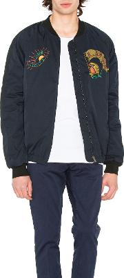 Scotch & Soda , Quilted Embroidered Bomber Jacket