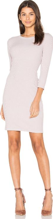 Enza Costa , Rib 34 Sleeve Mini Dress