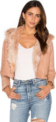Maria Stanley , Harlow Jacket With Faux Fur Collar