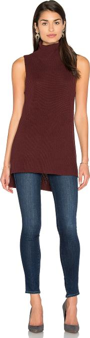 525 America , Sleeveless Mock Neck Sweater