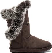 Australia Luxe Collective , Nordic Angel Short Rabbit Fur And Shearling Boot