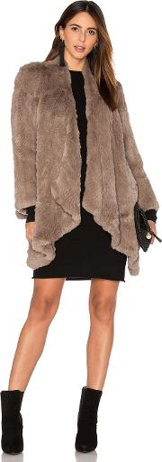 H Brand , Hand Knitted Rabbit Fur Coat