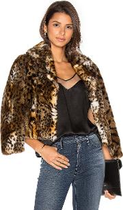 Mother , The Boxy Crop Faux Fur Jacket