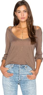 Project Social T , Wild Night Flax Cold Shoulder Tee