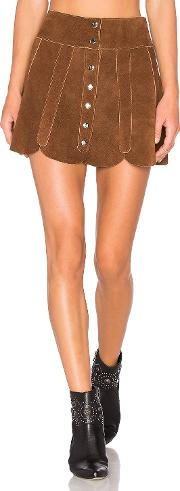 Understated Leather , X Revolve Scalloped Snap Skirt