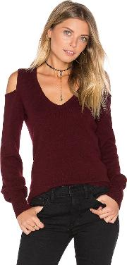 Autumn Cashmere , Cold Shoulder V Neck Sweater