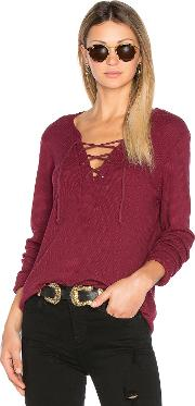 Michael Stars , Long Sleeve Tie Neck Top