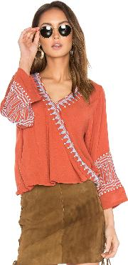 Piper , Butan Embroidered Top