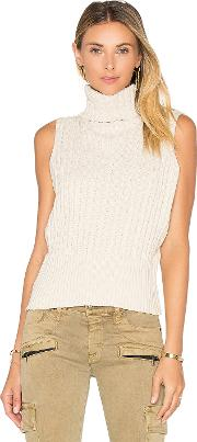 525 America , Cable Rib Sleeveless Crop Sweater