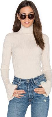 Autumn Cashmere , X Revolve Ribbed Turtleneck Bell Sleeve Sweater