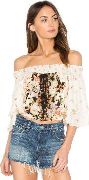 Band Of Gypsies , Poinsettia Floral Blouse