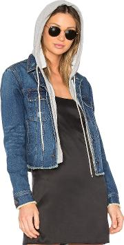 Central Park West , Beacon Hooded Jean Jacket