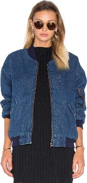 Joa , Front Pocket Bomber Jacket With Faux Sherpa Lining