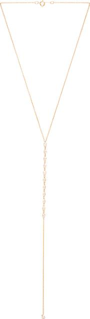 Joolz By Martha Calvo , Bezel Bar Lariat Necklace