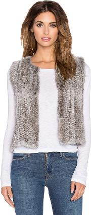 525 America , Real Natural Rabbit Fur Vest