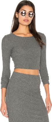 Bella Luxx , Plush Rib Long Sleeve Crop Top