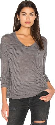 Bella Luxx , Sheer Rib Pullover Top