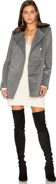 Capulet , Emmy Double Breasted Coat With Faux Fur Collar