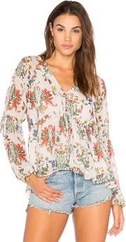 Endless Rose , Button Front Baby Doll Blouse