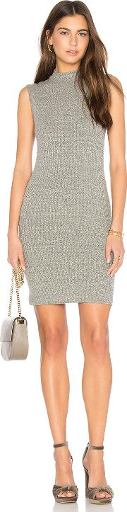 Enza Costa , Rib Mock Neck Mini Dress