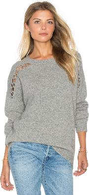 Fine Collection , Joe Lace Up Sweater