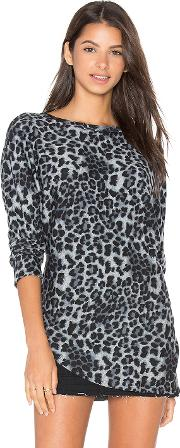 Heather , French Terry Reversible Asym Split Pullover