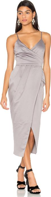 Lavish Alice , Satin Wrap Midi Dress