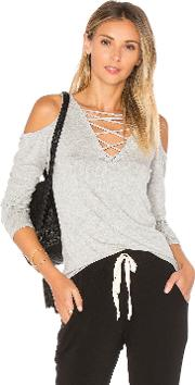 Project Social T , Falling For You Lace Up Top