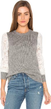 Rebecca Taylor , Lace Sleeve Pullover