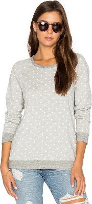 Sundry , White Dots Terry Sweatshirt