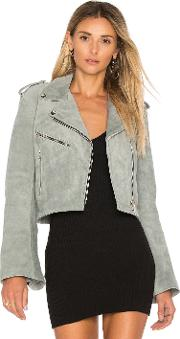 Understated Leather , Cropped Bell Sleeve Mc Jacket