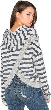 Sundry , Terry Cross Back Hoodie