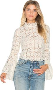 Free People , Kiss And Bell Lace Top