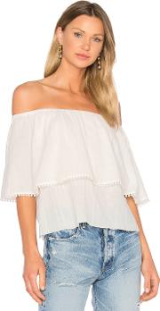 Roi , 3 Way Trimmed Blouse