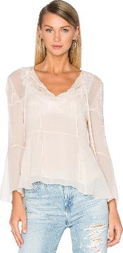 The Kooples , Long Sleeve Lace Pleat Top