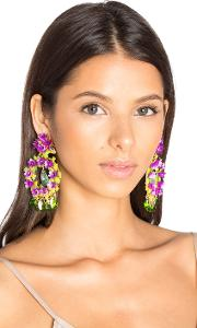 Mercedes Salazar , Floral Stone Earring
