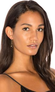 Sachi , X Revolve Pave Star Threader Earrings