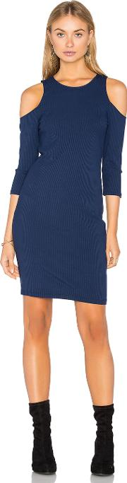 Eight Sixty , Cold Shoulder Ribbed Dress