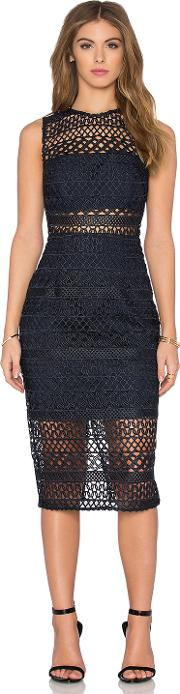 Nicholas , Braided Lace Fitted Bandeau Dress