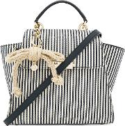 Zac Zac Posen , Eartha Iconic Convertible Striped Canvas Backpack