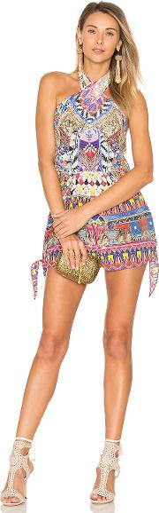 Camilla , Tie Front And Sides Romper