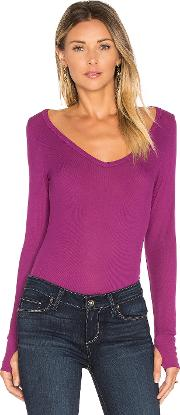 Michael Lauren , Otis Long Sleeve V Neck Tee