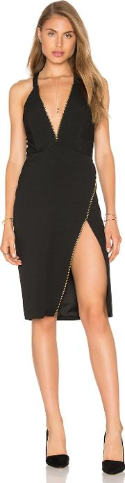 Michelle Mason , Plunge Zipper Dress
