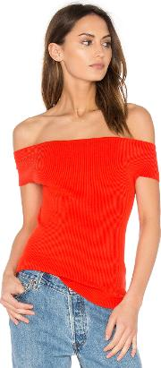 525 America , Off Shoulder Ribbed Top