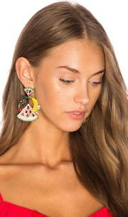 Elizabeth Cole , Fruit Salad Statement Earrings