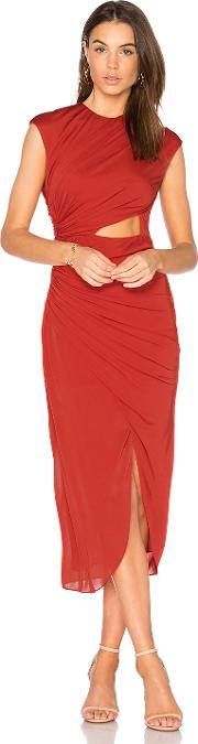 Halston Heritage , Ruched Hi Low Dress